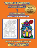 Trace And Color Worksheets Gingerbread Houses 1  Book PDF