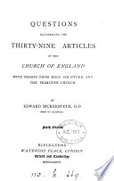 Questions Illustrating The Thirty Nine Articles Of The Church Of England
