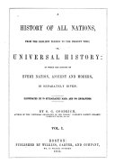A History of All Nations  from the Earlier Periods to the Present Time