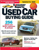 Consumer Reports Used Car Buying Guide 2005
