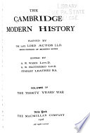 The Cambridge Modern History Planning by the Late Lord Acton