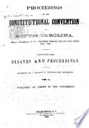 Proceedings Of The Constitutional Convention Of South Carolina