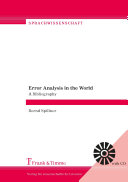 Error Analysis in the World. A Bibliography