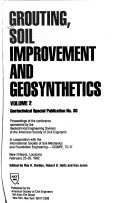 Grouting Soil Improvement And Geosynthetics Book PDF