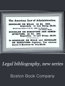 Legal Bibliography  New Series