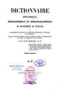 Dictionnaire historique, biographique et bibliographique du département de Vaucluse...