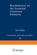Biochemistry of the Essential Ultratrace Elements Pdf/ePub eBook