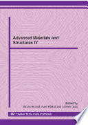 Advanced Materials And Structures Iv Book PDF