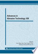 Advances In Abrasive Technology Xiii Book PDF