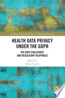 Health Data Privacy under the GDPR