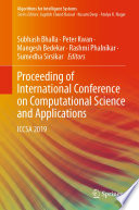 Proceeding of International Conference on Computational Science and Applications