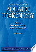 Fundamentals Of Aquatic Toxicology Book