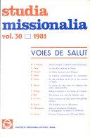 Pdf Studia Missionalia Telecharger
