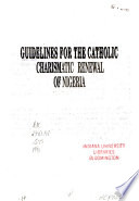 Guidelines for the Catholic Charismatic Renewal of Nigeria
