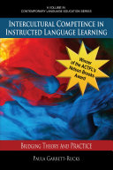 Pdf Intercultural Competence in Instructed Language Learning Telecharger
