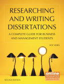 Researching and Writing Dissertations