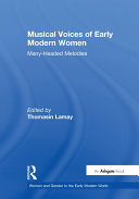 Pdf Musical Voices of Early Modern Women Telecharger