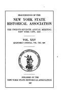 The Quarterly Journal of the New York State Historical Association