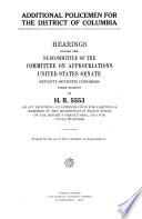 Additional Policemen for the District of Columbia  Hearings Before     77 1  on H R  5553 Book