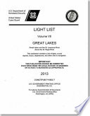 Light List  2013  V  7  Great Lakes and the St  Lawrence River Above the St  Regis River