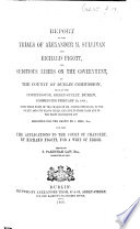 Report Of The Trials Of A M S And R Pigott For Seditious Libels On The Government At The County Of Dublin Commission Held February 10 1868 With Those Parts Of The Charge Of Mr Justice Fitzgerald Relative To Those Cases And To The Party Processions Act Reported For The Crown By J Hill Esq Edited By T P Law