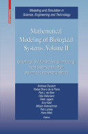 Mathematical Modeling of Biological Systems  Volume II Book