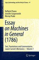 Essay on Machines in General  1786