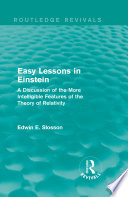 Routledge Revivals  Easy Lessons in Einstein  1922