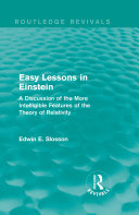 Routledge Revivals: Easy Lessons in Einstein (1922) [Pdf/ePub] eBook