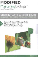 Modified Mastering Biology with Pearson Etext    Standalone Access Card    For Campbell Essential Biology  with Physiology Chapters  Book
