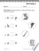Pre-Kindergarten Foundational Phonics Skills: Short Vowel a