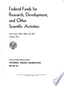 Federal Funds for Research  Development  and Other Scientific Activities Book PDF