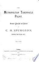The Metropolitan Tabernacle Pulpit