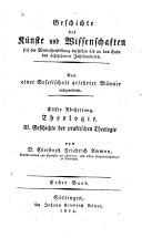 Geschichte der praktischen Theologie oder der Homiletik, ...