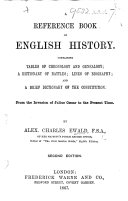 A reference book of English history. ... Second edition