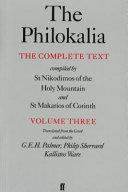 The Philokalia Volume 3