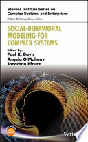 Social Behavioral Modeling for Complex Systems