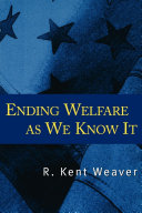 Pdf Ending Welfare as We Know It Telecharger