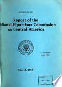 Appendix To The Report Of The National Bipartisan Commission On Central America