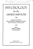 Psychology for the Armed Services
