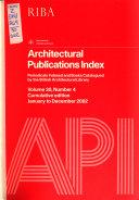 Architectural Publications Index