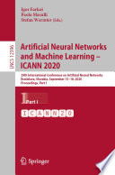 Artificial Neural Networks and Machine Learning     ICANN 2020 Book
