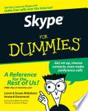 """""""Skype For Dummies"""" by Loren Abdulezer, Susan Abdulezer, Howard Dammond, Niklas Zennstrom"""