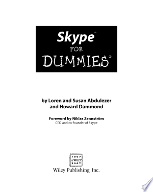 Download Skype For Dummies Free Books - Dlebooks.net