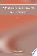 Advances in Pain Research and Treatment  2011 Edition