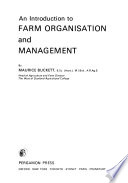 An Introduction to Farm Organisation and Management