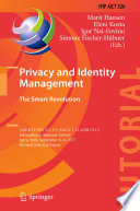 Privacy And Identity Management The Smart Revolution Book PDF