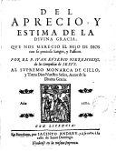 Del apreciar y estimar de la Divina Gracia