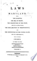 The Laws Of Maryland 1692 1785