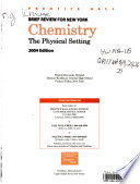 Prentice Hall brief review in Chemistry : the physical setting